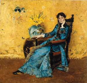 William Merritt Chase - Portrait de Mlle Dora Wheeler