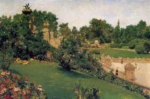 William Merritt Chase - terrasse à l- centre commercial centrale  parc