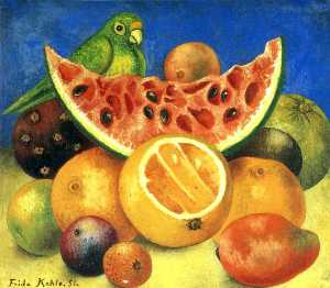 Frida Kahlo - nature morte avec perroquet