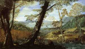 Annibale Carracci - paysage fluvial