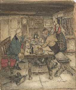 Arthur Rackham - Supper The Farmer