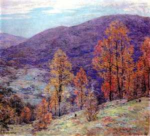 Willard Leroy Metcalf - Autum Gloire