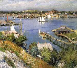 Willard Leroy Metcalf - port de gloucester
