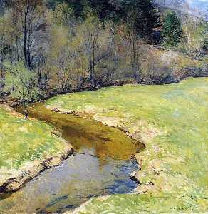 Willard Leroy Metcalf - le sunny brook , Chester ..
