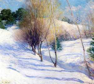 Willard Leroy Metcalf - Hiver dans le New Hampshi..