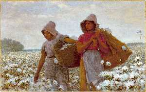 Winslow Homer - Les Pickers coton
