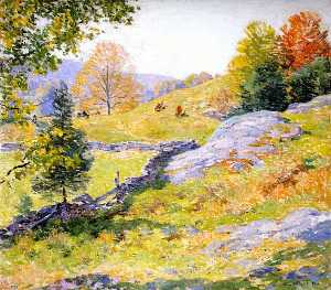 Willard Leroy Metcalf - coteau Pâturages