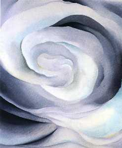 Georgia Totto O'Keeffe - abstraction rose blanche