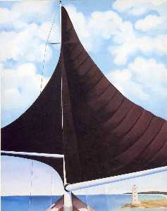 Georgia Totto O'Keeffe - brown voile , wing wing ,..