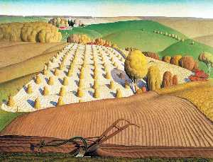 Grant Wood - Labour d automne