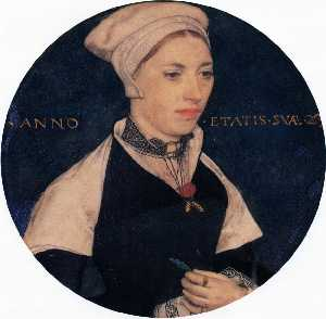 Hans Holbein The Younger - Mme . Pemberton
