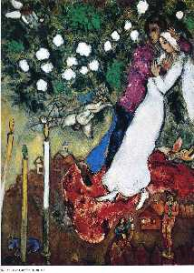 Marc Chagall - Les trois bougies