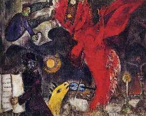 Marc Chagall - l'ange qui tombe