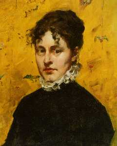 William Merritt Chase - Portrait de la Artist's Sister..