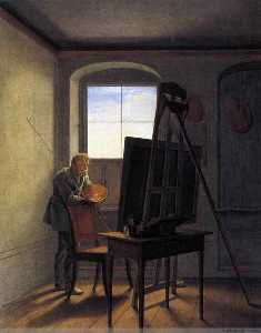 Georg Friedrich Kersting - CASPAR DAVID FRIEDRICH dans ses Atelier