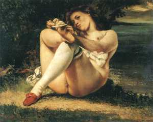 Gustave Courbet - femme blanc  bas