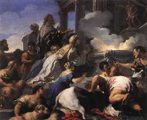 Luca Giordano - Psyche's Des parents offrant s..