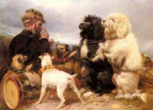 Richard Ansdell - Le chanceux chiens