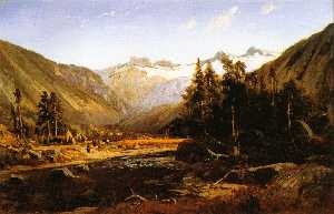 William Keith - mont lyell , california sierra