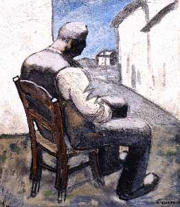 Auguste Chabaud - homme assis