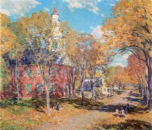 Willard Leroy Metcalf - octobre matin , Deerfield