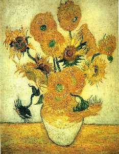Vincent Van Gogh - nature morte : vase avec quatorze tournesols