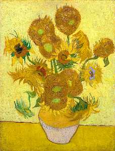 Vincent Van Gogh - nature morte aux tournesols