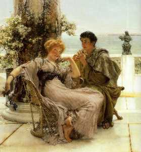 Lawrence Alma-Tadema - Courtship La Proposition