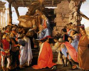 Sandro Botticelli - Sadro adoration des mages