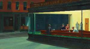 Edward Hopper - Nighthawks , the art institute of chicago , Chica