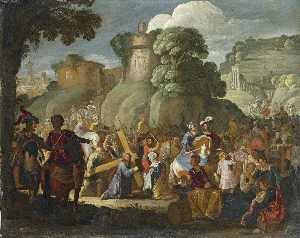 David Teniers The Elder - Christ sur la route à  cavaler..