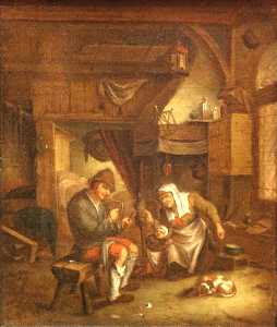 David Teniers The Elder - Dutch-old intérieur