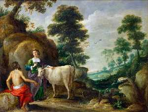 David Teniers The Elder - Io , transformé dans une vache..