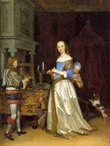 Gerard Ter Borch The Youn.. - dame à sa toilette