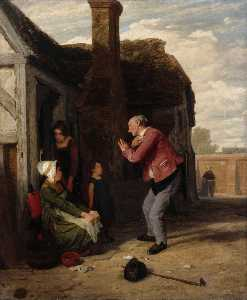 William Mulready The Younger - le Village arlequin