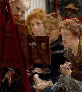 Lawrence Alma-Tadema - une famille  groupe