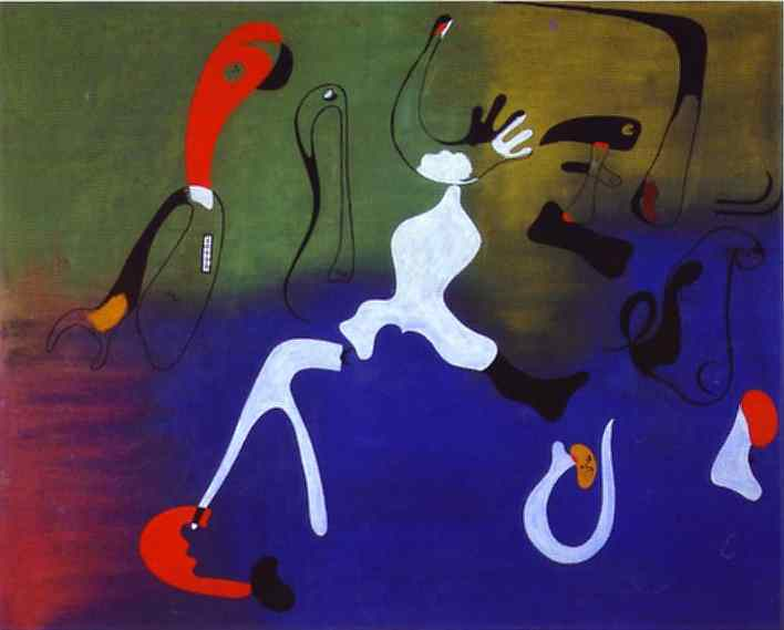Composition, Huile de Joan Miro (1893-1983, Spain)
