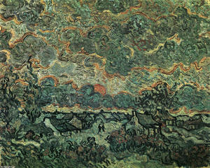 Vincent Van Gogh - Cottages et cyprès Reminiscence of the North