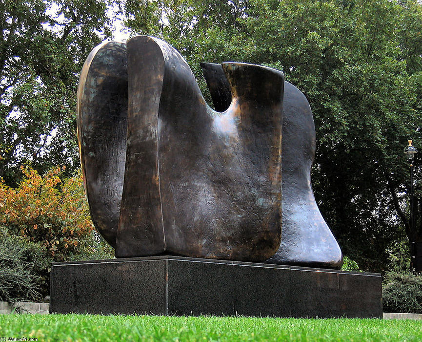 couteau bord – deux `piece, sculpture de Henry Moore (1898-1986, United Kingdom)