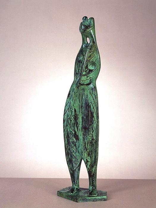 Feuille Figure n ° 3, sculpture de Henry Moore (1898-1986, United Kingdom)