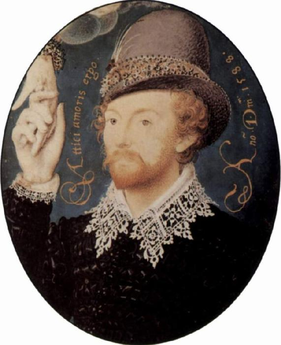 portrait d`un étranger de Nicholas Hilliard (1577-1619, United Kingdom) | Reproductions D'art Sur Toile | ArtsDot.com