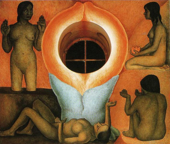 Maturation, fresques de Diego Rivera (1886-1957, Mexico)