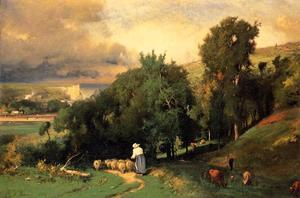 George Inness - Hillside at Etretet