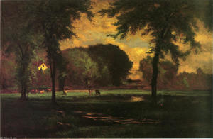 George Inness - Le Pâturage