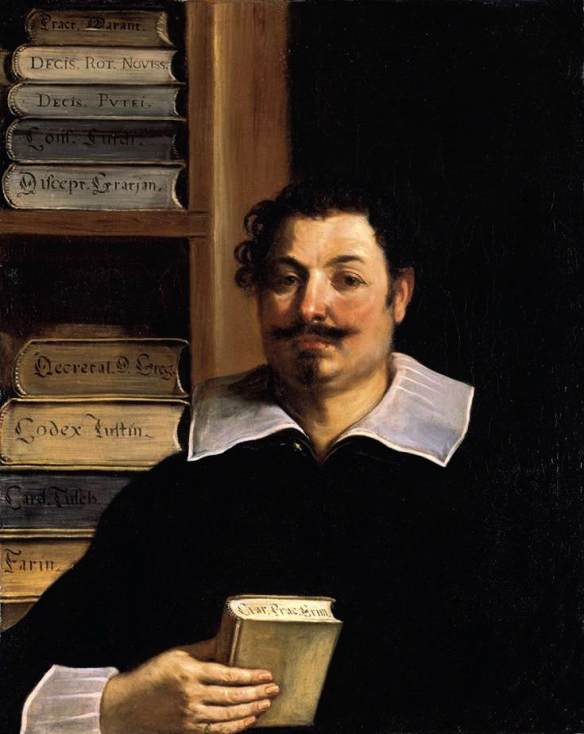 Portrait de Francesco Righetti, huile de Guercino (Barbieri, Giovanni Francesco) (1591-1666, Italy)