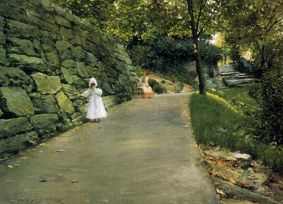 dans le parc - une By-Path, 1890 de William Merritt Chase (1849-1916, United States) | ArtsDot.com