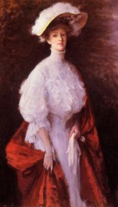 William Merritt Chase - portrait de miss frances v . Earle