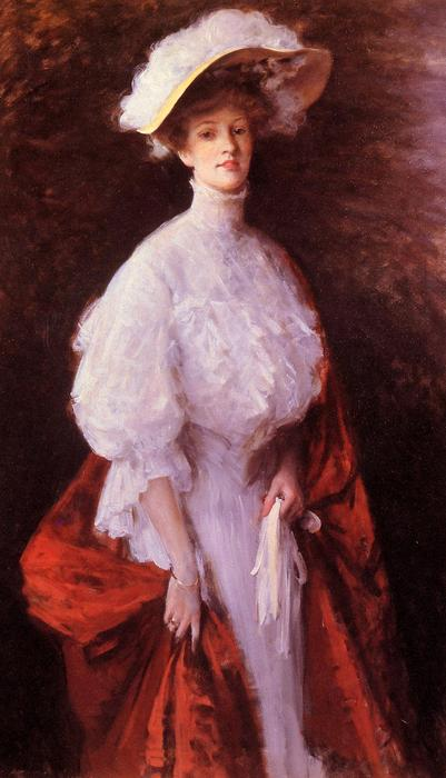portrait de miss frances v . Earle, Huile de William Merritt Chase (1849-1916, United States)