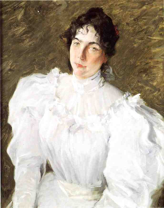 Portrait de Virginie Gerson 1  , Huile de William Merritt Chase (1849-1916, United States)