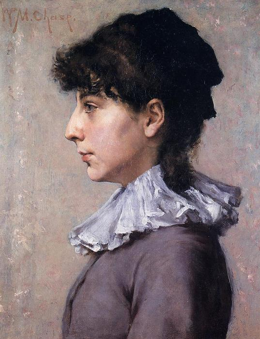 Portrait de Virginie Gerson, huile sur toile de William Merritt Chase (1849-1916, United States)